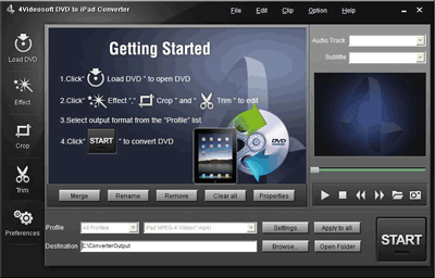 4Videosoft DVD to iPad Converter Screenshot