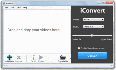 iConvert iPod Video Converter Screenshots